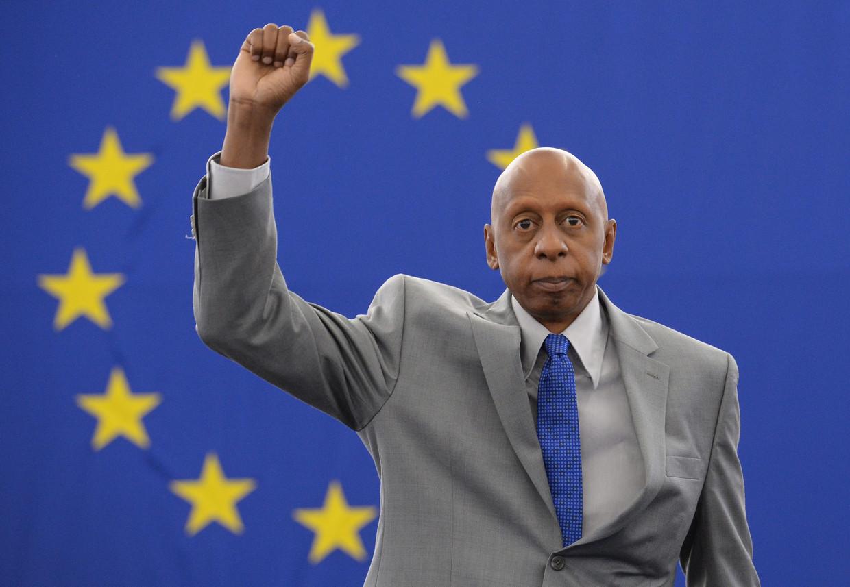 In 2010 kende de Europese Unie Guillermo Fariñas de Sacharov-prijs voor de vrijheid van denken toe. Beeld EPA