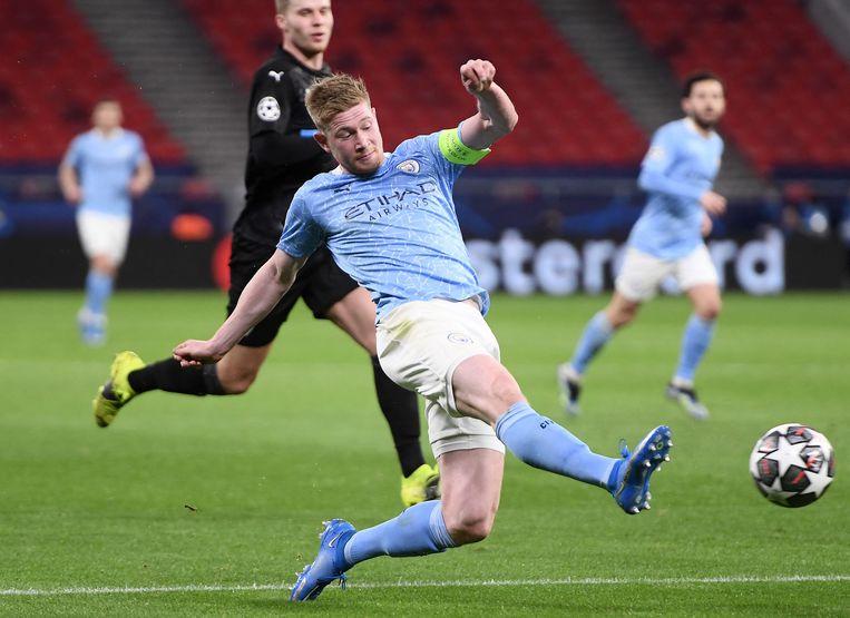 Kevin De Bruyne, draaischijf van Manchester City, maakt volgens Wilmots kans op de Gouden Bal. Beeld AFP
