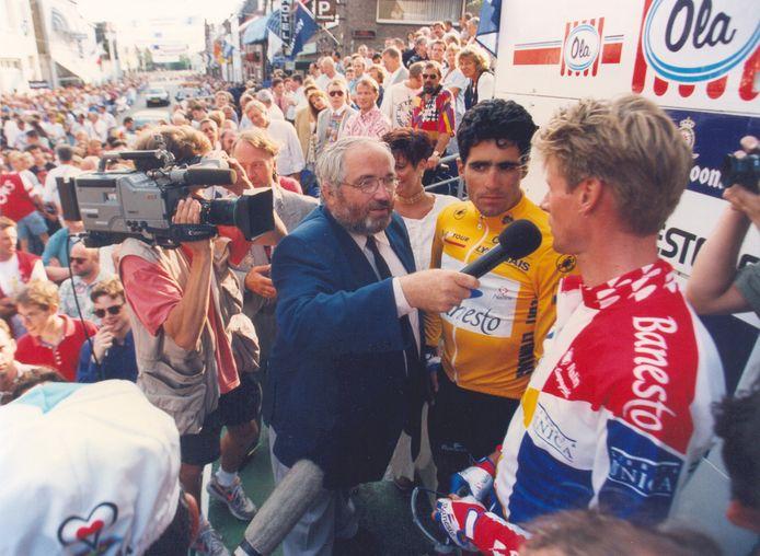 Miguel Indurain was in zijn gele trui de blikvanger in Draai van de Kaai  in 1994.