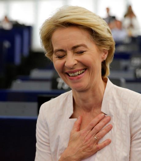 Ursula von der Leyen trekt meerderheid Europees Parlement over de streep