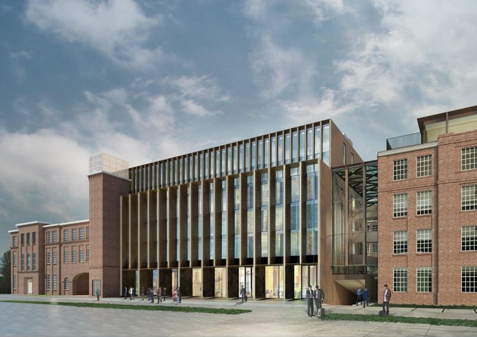 Impressie van het nieuwe L-gebouw met hotel op het KVL-terrein in Oisterwijk