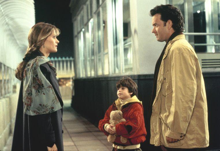 Vanaf links: Meg Ryan, Ross Malinger en Tom Hanks in 'Sleepless in Seattle'. Beeld