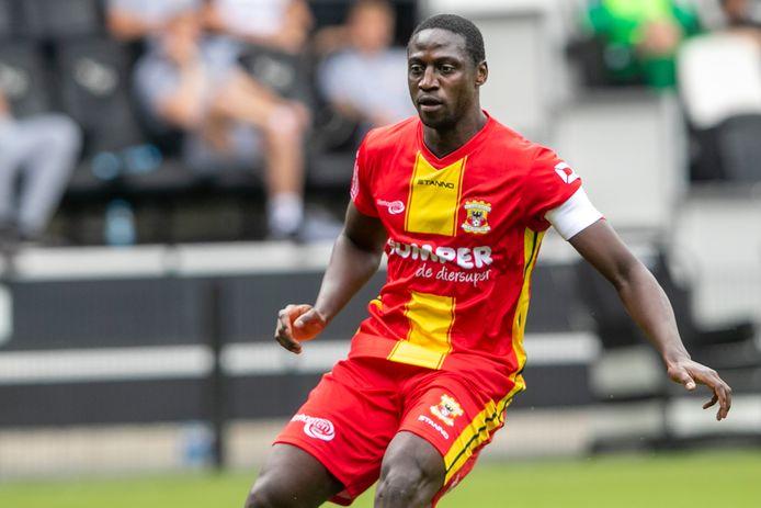Jacob Mulenga in actie tijdens het recente oefenduel van GA Eagles tegen Heracles.