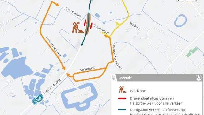"Heraanleg kruispunt Heisbroekweg (N105) met Drevendaal start maandag: ""Komen middeneilanden en fietsoversteken"""