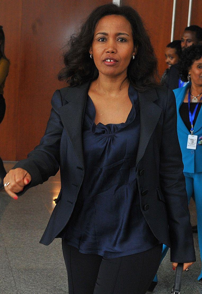 Azeb Mesfin, Zenawi's vrouw, in juli van dit jaar. Beeld ANP