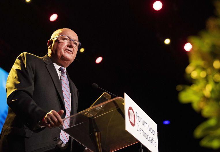 De Amerikaanse ambassadeur Pete Hoekstra tijdens het vierde partijcongres van Forum voor Democratie.  Beeld ANP