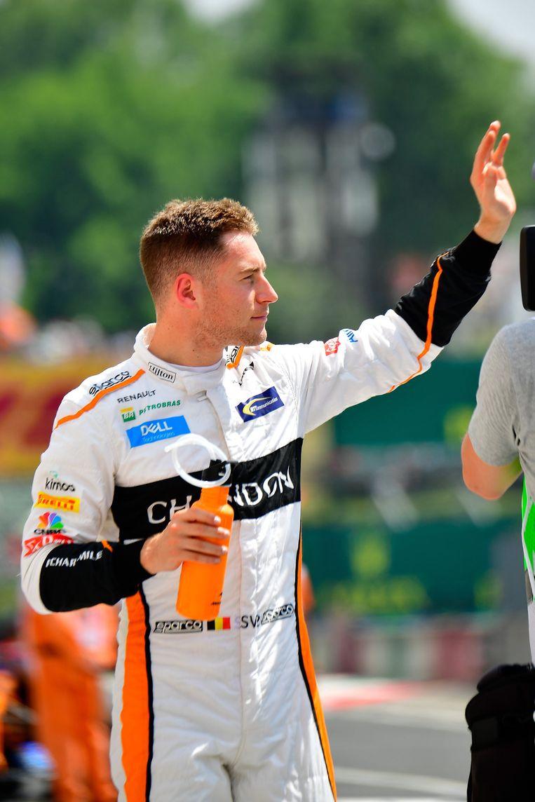 Stoffel Vandoorne van McLaren op de Hongaarse GP. Beeld EPA