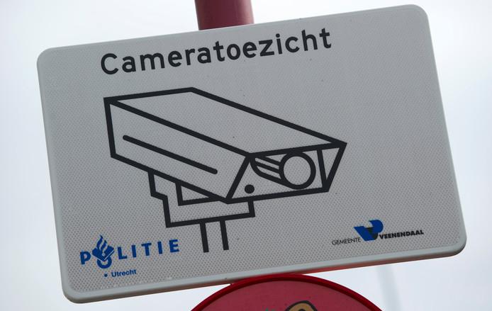 Cameratoezicht in het centrum van Veenendaal.