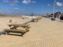 De picknickbanken op de Zeedijk van Zeebrugge bleven evenwel grotendeels leeg op zaterdag.