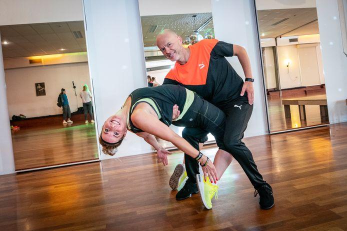 Eddie Koekoek met zijn danspartner Christan van Hal.