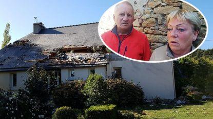 """Bewoners van het huis waar Belgische F-16 op neerkwam en stuk van hun dak rukte: """"Alles ruikt naar de kerosine"""""""