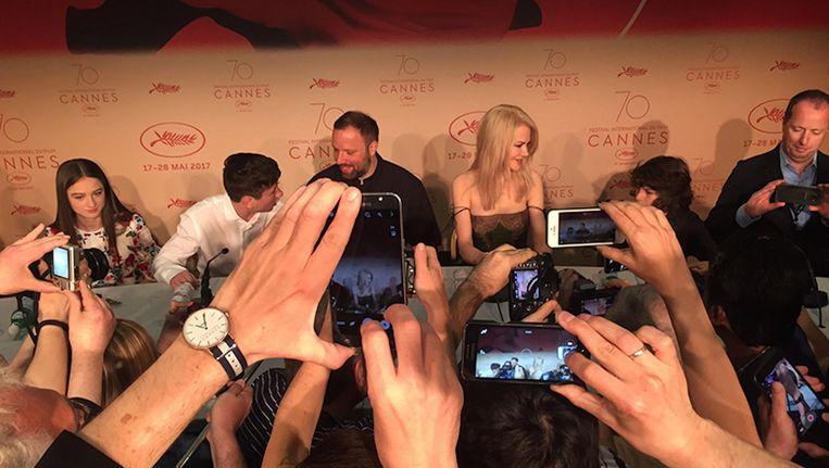 Een persconferentie met Nicole Kidman. Beeld Jan Pieter Ekker