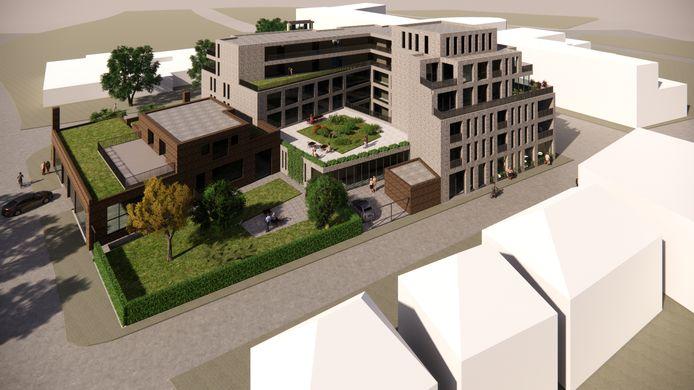 Het Brokanthuis, bezien vanaf de Brugstraat, waar de entree van het complex zal komen.