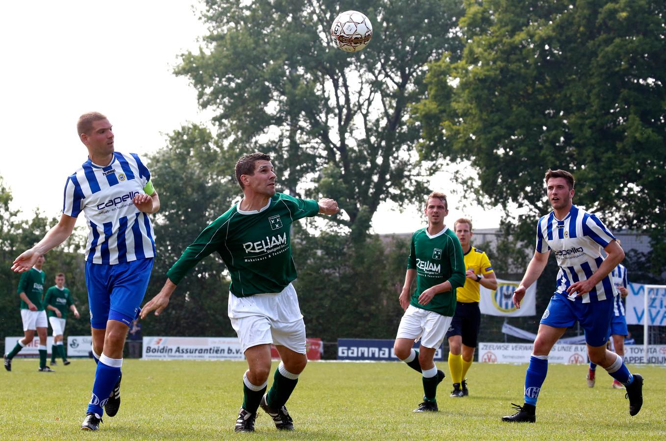 Peter Dieleman maakte zaterdag de 1-0 tegen 's-Heer Arendskerke namens Zaamslag.