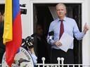 """""""Il est juste de qualifier ce qui arrive à Bradley Manning de procès-spectacle"""" a déclaré Julian Assange depuis l'ambassade d'Equateur. (archive)"""