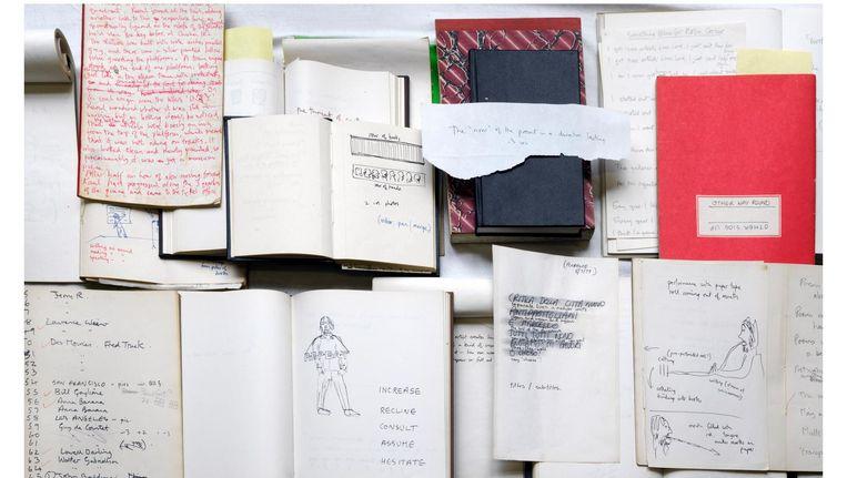 'Het archief was één grote puzzel, waarin de verbanden niet altijd makkelijk te vinden zijn,' zegt Gibbs' weduwe Beeld PH. GJ. van Rooij