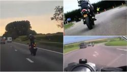VIDEO: Zonder handen op E40 en nog 6 filmpjes van motorrijders die het veel te bont maken op de weg