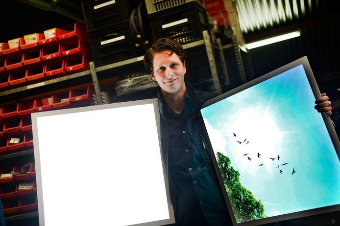 Mark Vreeswijk van LED Design. Het bedrijf komt nu met iets nieuws op de markt: een UVC-desinfectiesysteem.