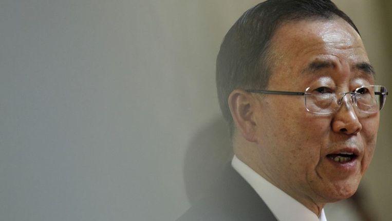 Ban Ki-moon in Zagreb, gisteren. Beeld reuters