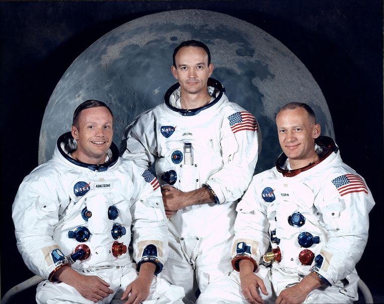 Neil Armstrong, Michael Collins en Buzz Aldrin. Beeld GETTY