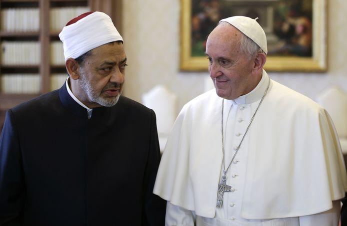 Le pape François et le grand imam d'Al-Azhar, Ahmed al-Tayeb.