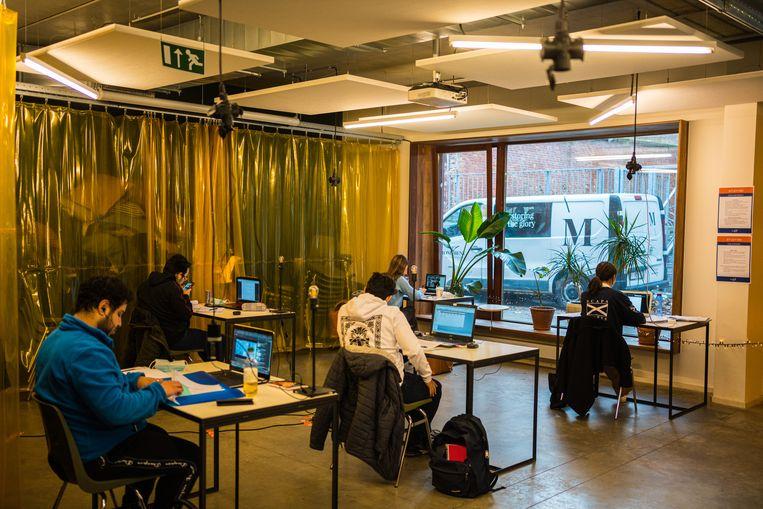 De stad Antwerpen biedt sinds deze week studeerplekken aan voor studenten Beeld Wouter Van Vooren