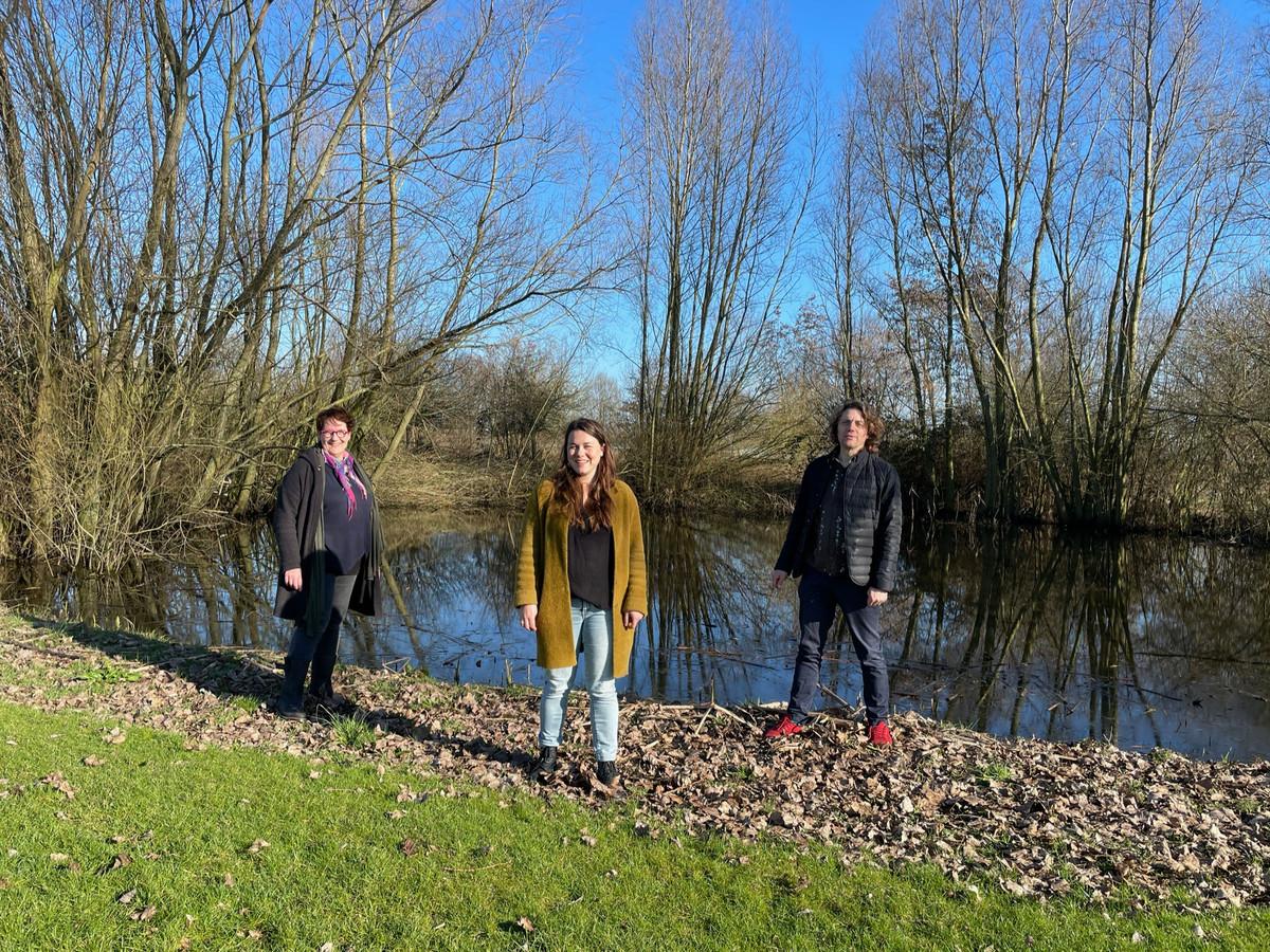 Op de foto v.l.n.r  Iris de Ruiter, Anne van Breugel en Ianus Keller, van De Stuiter.