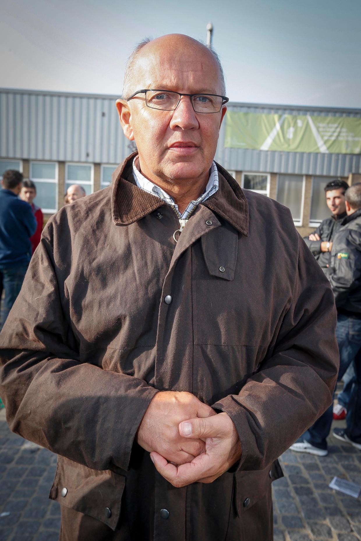 Michel Dylst in oktober 2012, op de fabriekssite van Ford Genk.