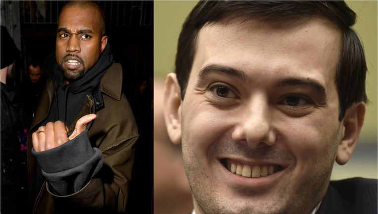 Kanye West & Martin Shkreli. Beeld getty, ap