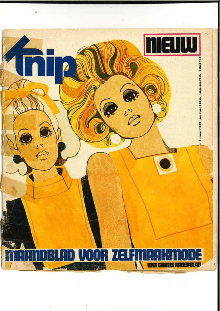 De allereerste cover van Knip Mode, maart 1969. Beeld Peter Elenbaas