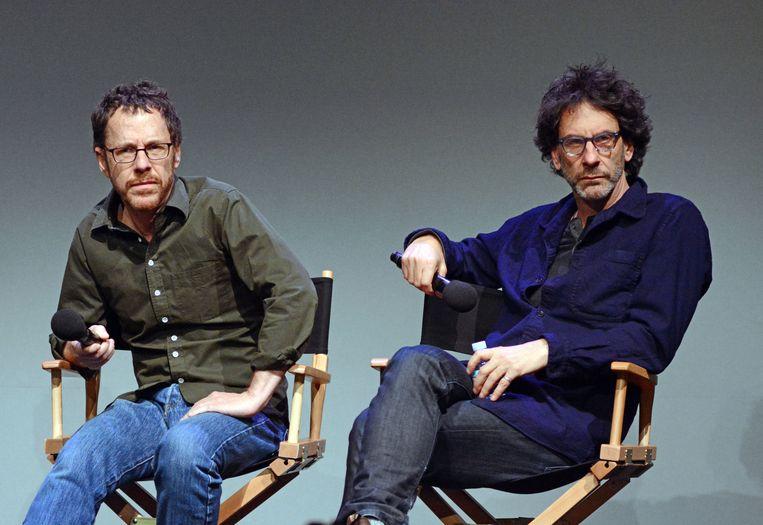 Joel Coen and Ethan Coen tijdens de promotie voor hun film 'Inside Llewyn Davis'. Beeld Photo News