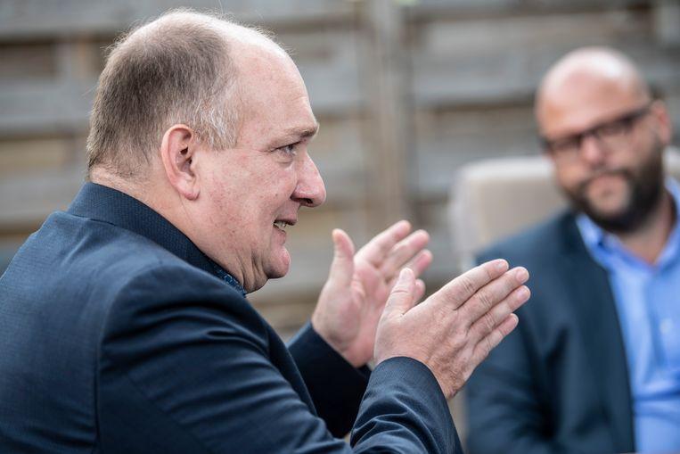Jurgen Wayenberg: 'Ik krijg berichten van leraars die niet meer voor de klas durven te staan. Maar de scholen dichthouden tot er een vaccin is, zou pas onverantwoord zijn.' Beeld Marco Mertens