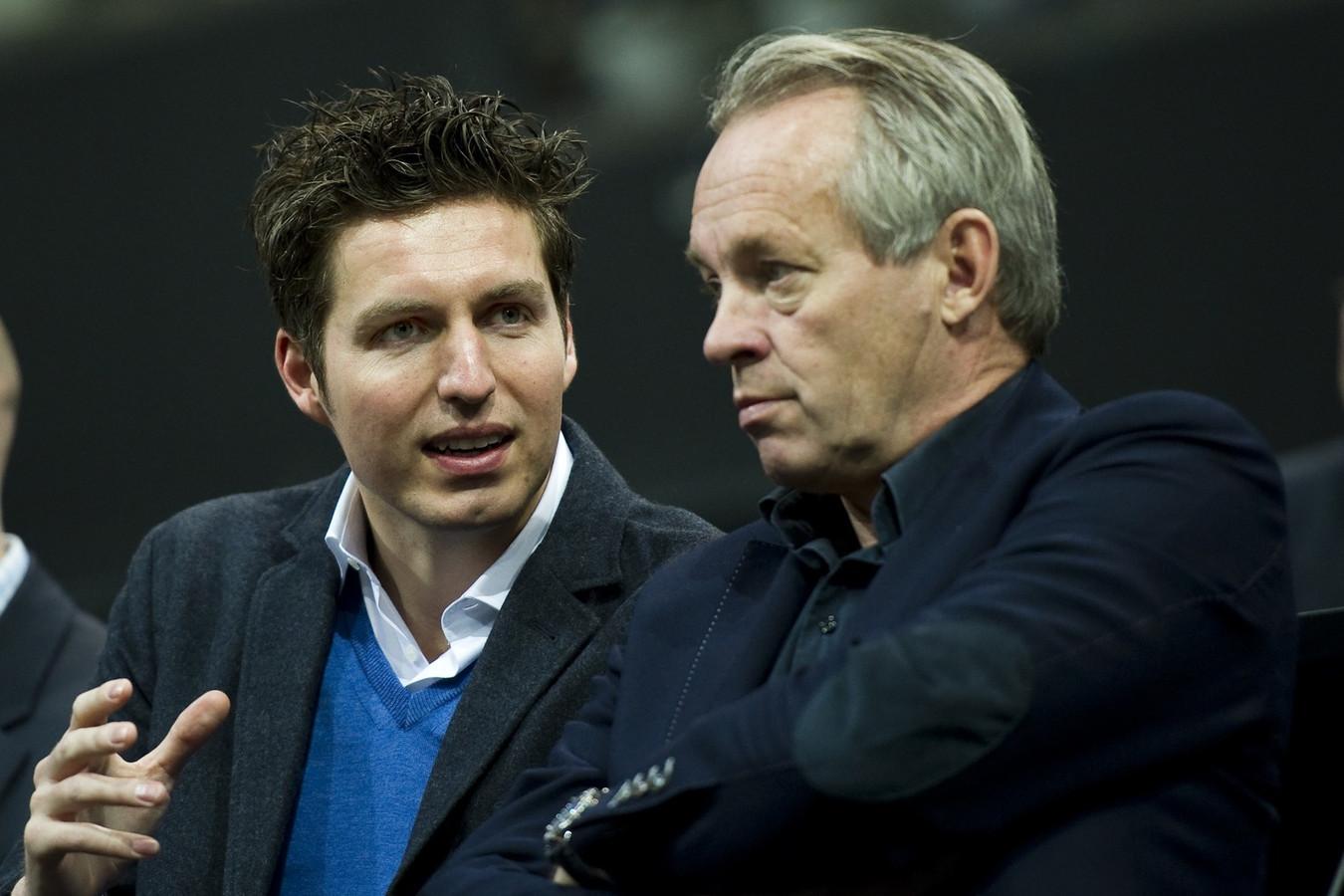 Pieter van den Hoogenband met Joop Alberda.