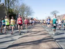 Wegafzettingen voor halve marathon