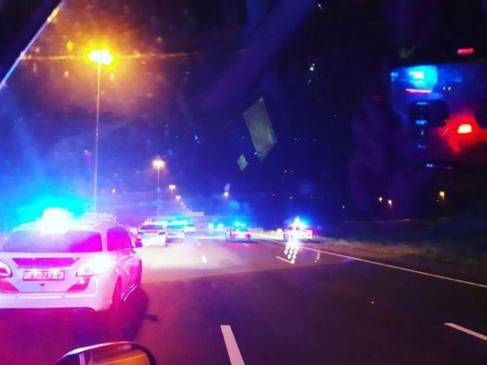 De politie had de handen vol aan de autodief.
