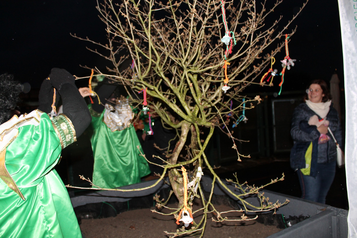De tutjesboom in Meulebeke heeft een plaatsje gekregen aan buitenschoolse kinderopvang 't Berenhuisje.