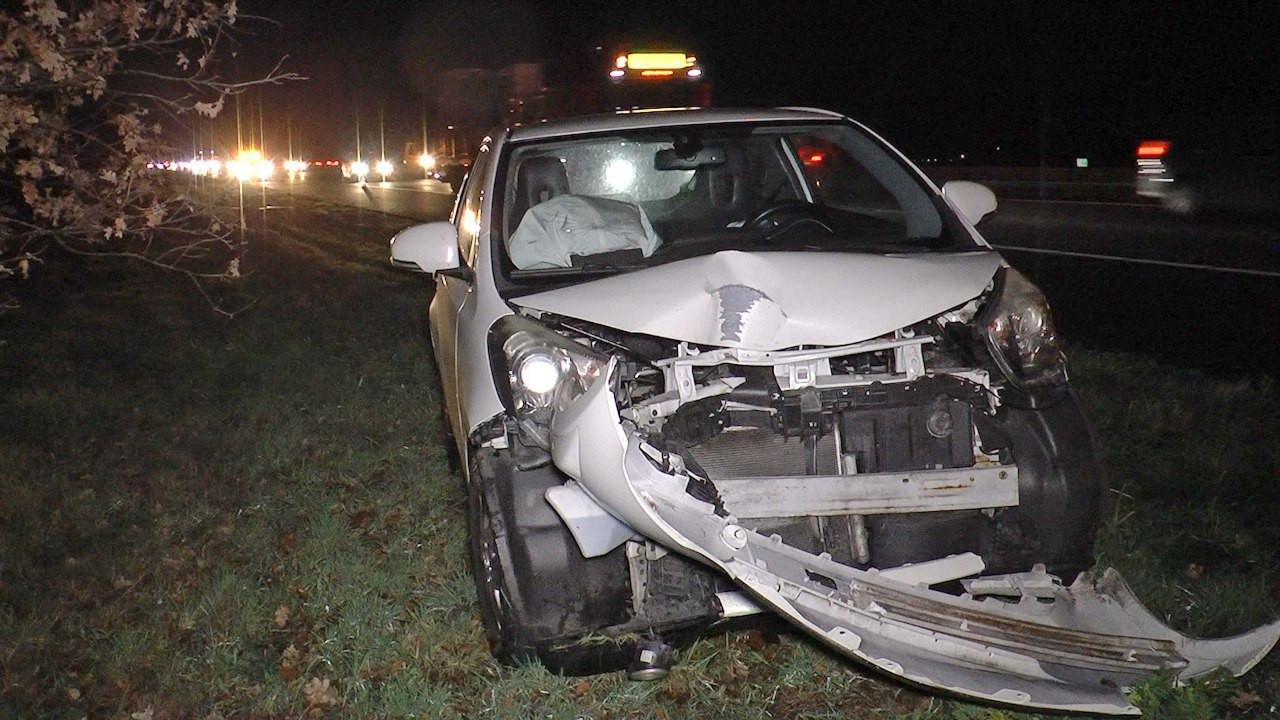 Ongeval op de A28 bij De Wijk.