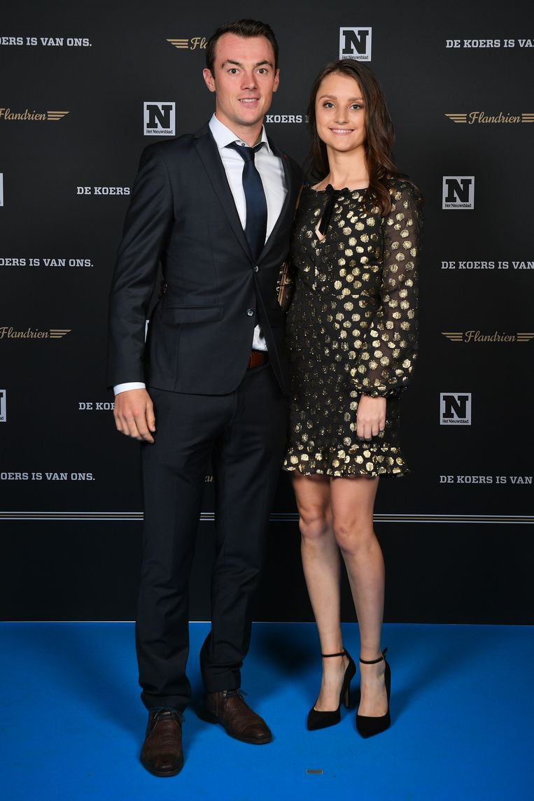 Lampaert met zijn partner Astrid Demeulemeester.
