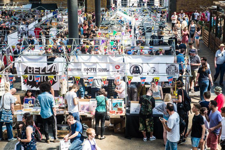 Op 7 en 8 april stellen in het Brusselse Centrum voor Hedendaagse Kunst Wiels een honderdtal onafhankelijke platenlabels hun artiesten, platen en diensten voor. Beeld Independent Label Market