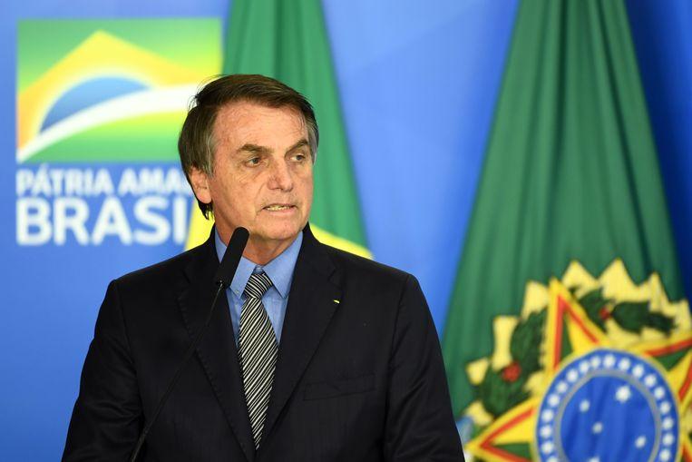 Mudde: 'Jair Bolsonaro verdedigt het traditionele rollenpatroon, maar als hij zich aangevallen voelt door een vrouw, dreigt hij met verkrachting.' Beeld AFP