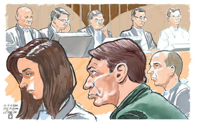 Rechtbanktekening van Willem Holleeder