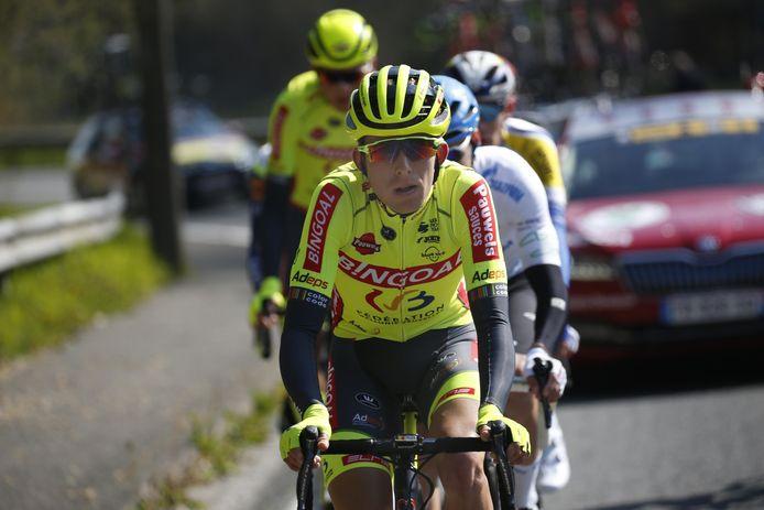 Laurens Huys kon in de voorlaatste rit met de besten mee naar boven klimmen.