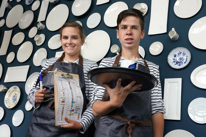 Tess en Steve, werkzaam bij het nieuwe restaurant Bij Lot.