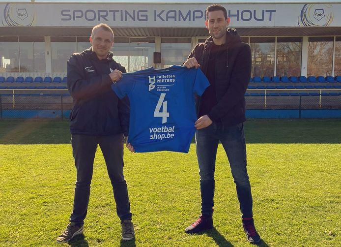 Robby Vanhamel (r.), hier met voorzitter Andries Vanhoof, vormde bij Diegem Sport jarenlang een vast duo met Pieter Jacobs.