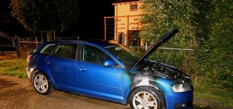 Auto afgevoerd na brand in Hedel