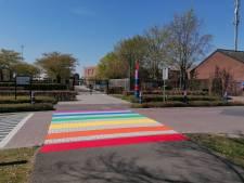 Aanleg regenboogzebrapad in Nijverdal als symbool voor acceptatie van diversiteit