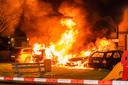 Hevige brand in Woerden.