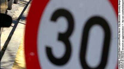 Nog maar 30 kilometer per uur in Sint-Joblaan