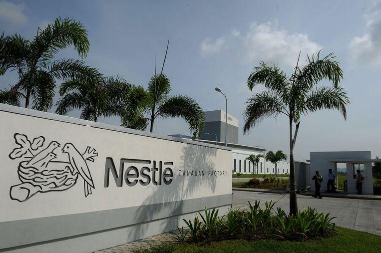 Een fabriek van Nestlé in de Filipijnen. Beeld AFP