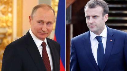 Poetin en Macron plannen tête-à-tête in Rusland